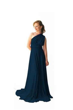 1 Convertible Bridesmaid Dress Long, Dark Blue Infinity Dress, Infinity Dresses For Bridesmaids