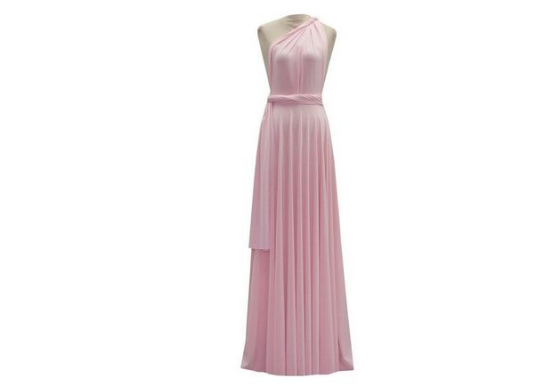 Light Pink infinity dress, convertible dresses, party dress, Evening Dress, bridesmaid dress, Wedding Gift