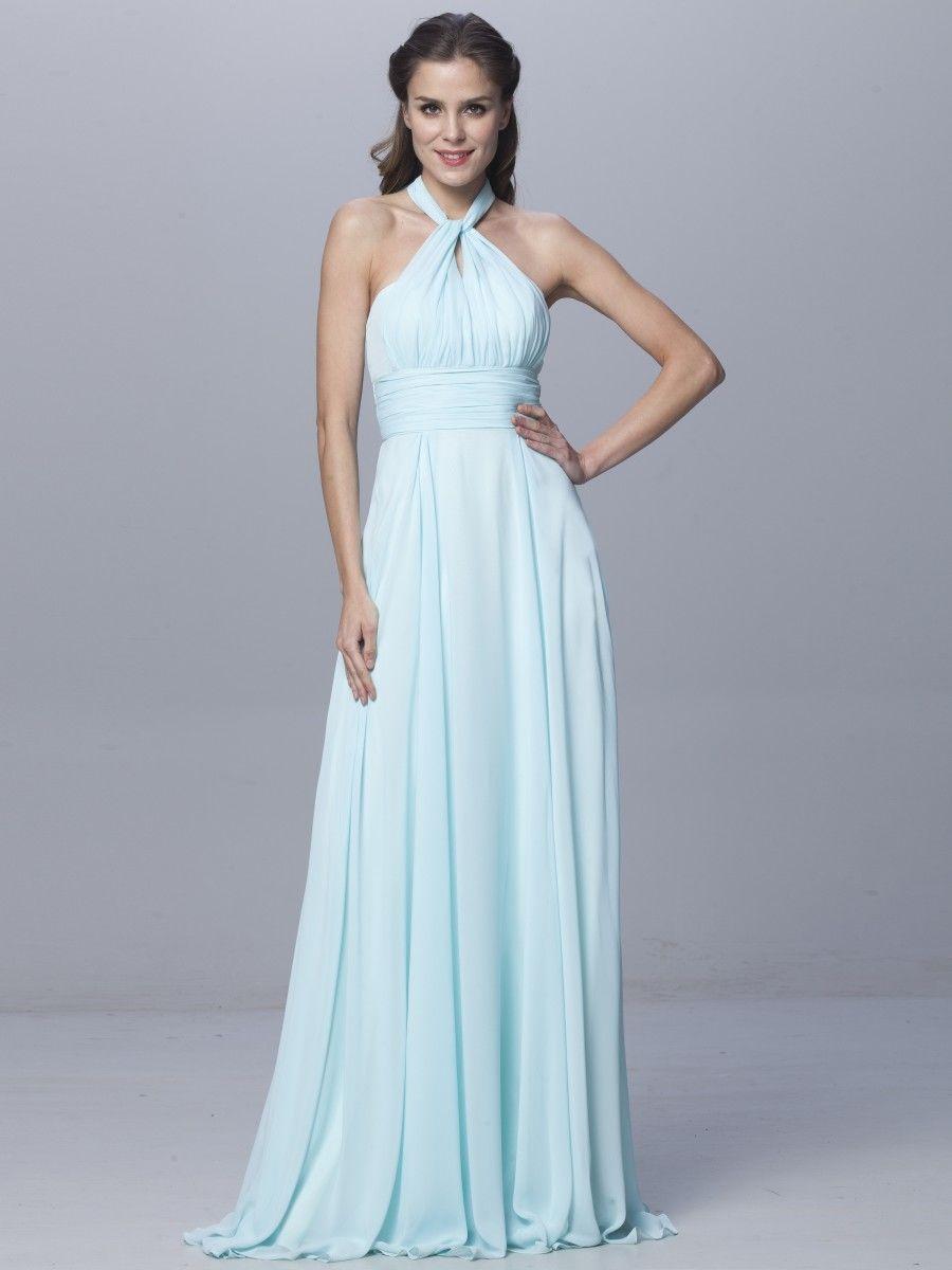 1 Baby Blue Infinity Dress, Long Wrap Dress, Floor length Bridesmaid ...