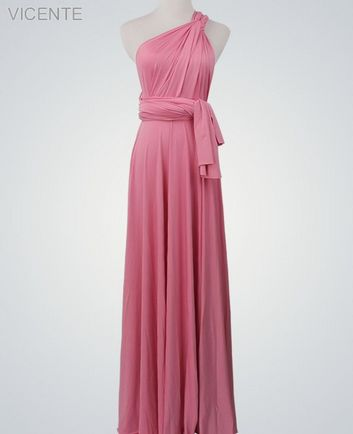 1 Pink Infinity Dress, Convertible Dresses for Bridesmaids, Beach Wedding Dress