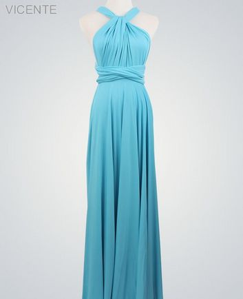 Blue Party Dress, Bridesmaid Dresses Convertible, Beach Wedding Dress, Evening wedding
