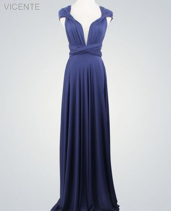 Royal Blue Infinity Dresses Set, Formal long dress, Floor Length infinity dress, Evening Dress