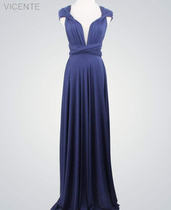 Royal Blue Infinity Dresses Set, Formal long dress, Floor Length infinity dress, Evening Dress
