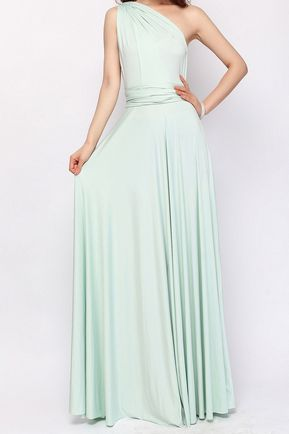Long Infinity Dress, Mint convertable dress, Long Convertible Bridesmaid Dress, Infinity Dress Cheap
