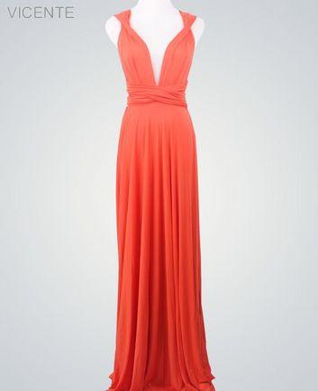 Red Infinity Dress, Bridesmaid Dresses Convertible, Convertible Bridesmaid Dress Long