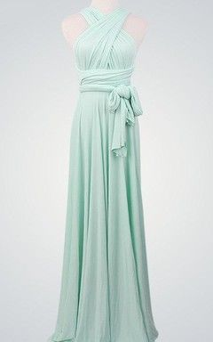 Mint Convertible Dress, Convertible Wrap Bridesmaid Dress, Long Convertible Bridesmaid Dress