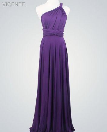 Infinity Dress Set,Dark Purple Convertible Dress, Convertible Bridesmaid Dress, Floor Length Dress,