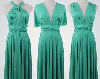 Pack of 18 Green Convertible Dress, Infinity Wedding Dress, Long Infinity Dress, Party Dress