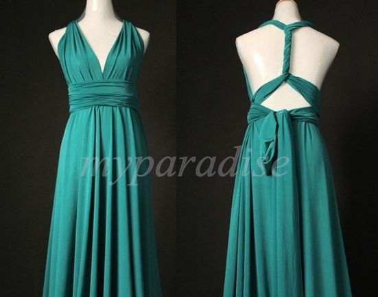 5 Jade Convertible Dress Set, Green Infinity Dress, Convertible Dresses for Bridesmaids