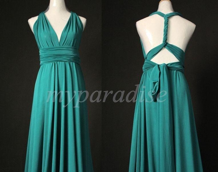 5 Jade Convertible Dress Set, Green Infinity Dress, Convertible Dresses for Bridesmaids