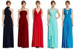 Set of 20 Infinity Dress Set, Red Infinity Dress, Blue and Dark Blue Convertible Dresses, Party Dress