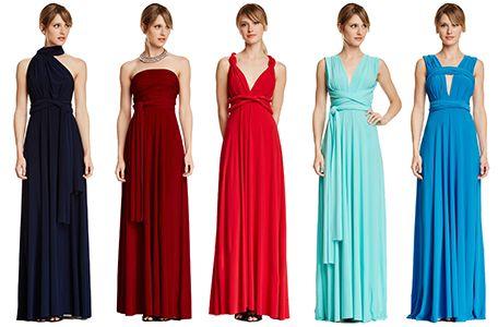7b7aeddb8bc33 Set of 20 Infinity Dress Set, Red Infinity Dress, Blue and Dark Blue  Convertible Dresses, Party Dress