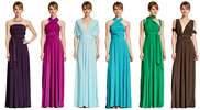Set of 17 Bridesmaid infinity dress, Wedding Party dress, Prom Dress, Convertible Evening dress floor length