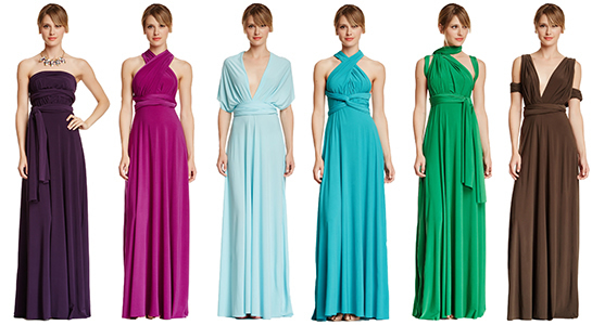 Set of 17 Bridesmaid infinity dress, Wedding Party dress, Prom Dress, Convertible Evening dress floor length