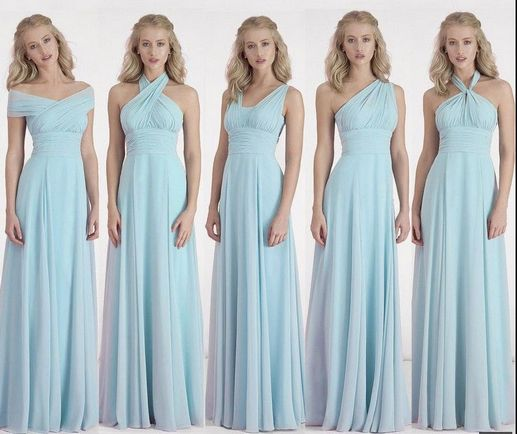 19 Light Blue infinity dress Set, Baby Blue Infinity Dress, Infinity Wedding Dress, Party Dress