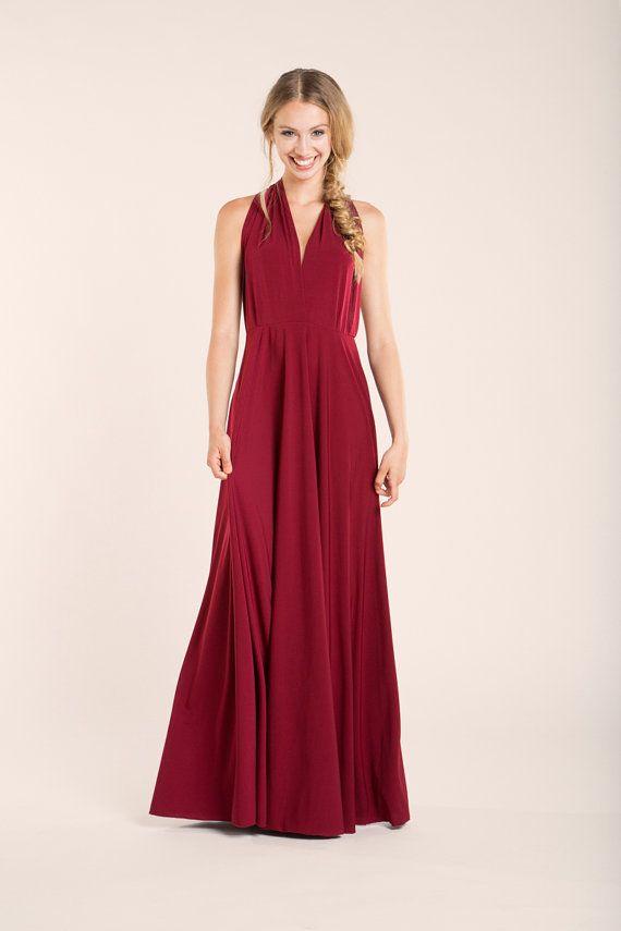 1 Ruby Convertible Dress Set, Red Infinity Dress, Beige Infinity Dress, Bridal Party, Evening Dress