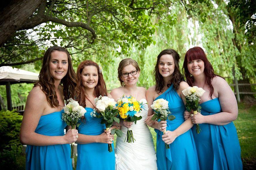 Set of 10 Infinity Dress, Blue Convertible Dress, Floor Length Infinity Dress, Party Dress