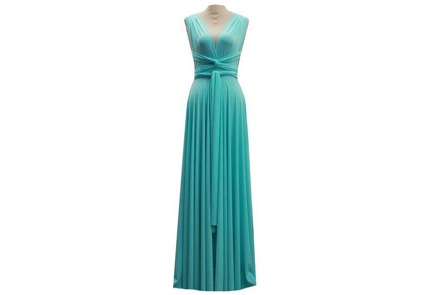 1 Blue Bridesmaid dress Set, Wedding Dress Convertible, Evening Dress, Party Dress