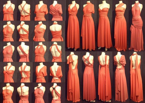 Pack of 20 Rust Convertible Dress, Long Infinity Dress, Infinity Wedding Dress, Wedding Dress