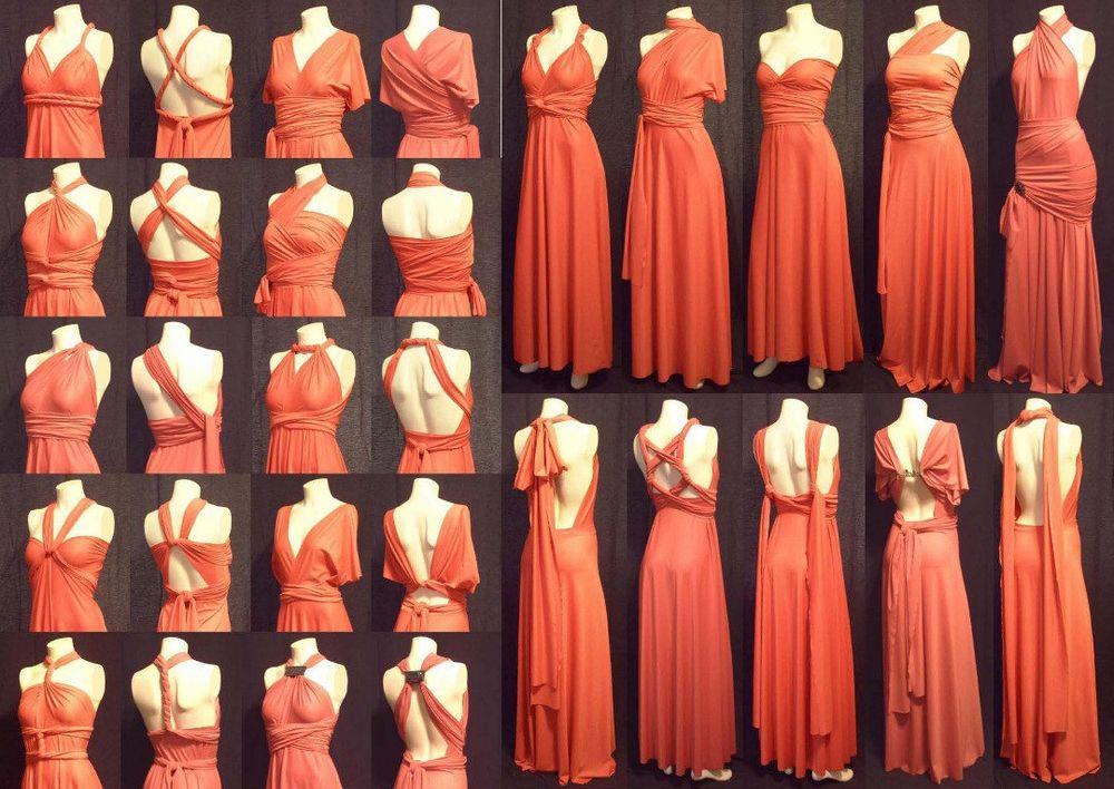 Pack of 20 Rust Convertible Dress, Long Infinity Dress, Infinity Wedding Dress, Wedding Dress