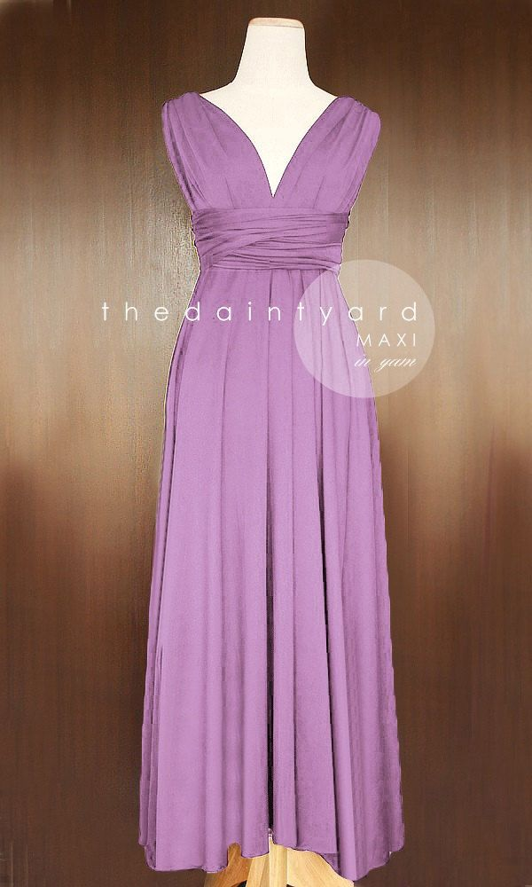 Purple Infinity Dress, Bridal Party, Convertible Dresses for Bridesmaids, Party Dress