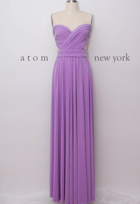 Infinity Dress, Purple Convertible Dress, Long Dress, Evening Dress ...