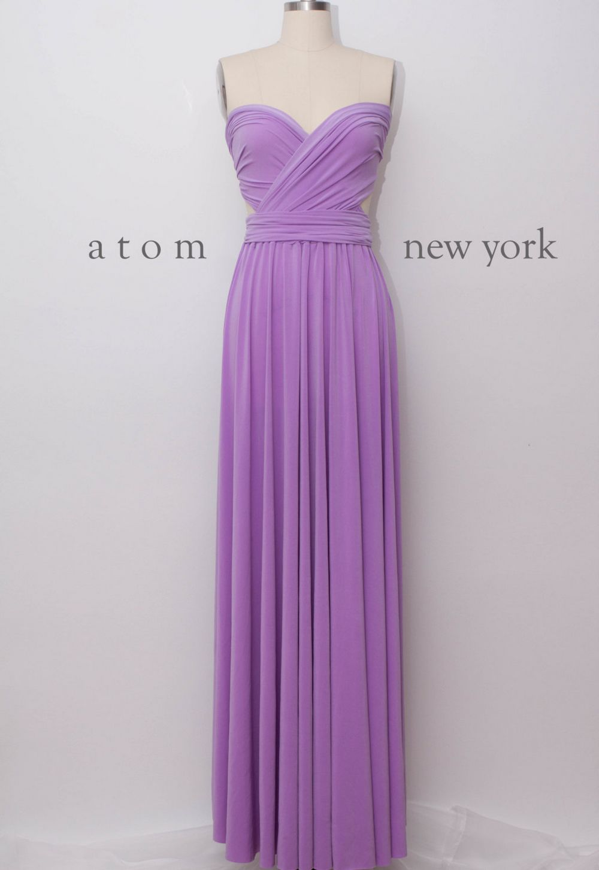 Lavender Infinity Dress, Purple Convertible Dress, Long Dress, Evening Dress, Bridal Party
