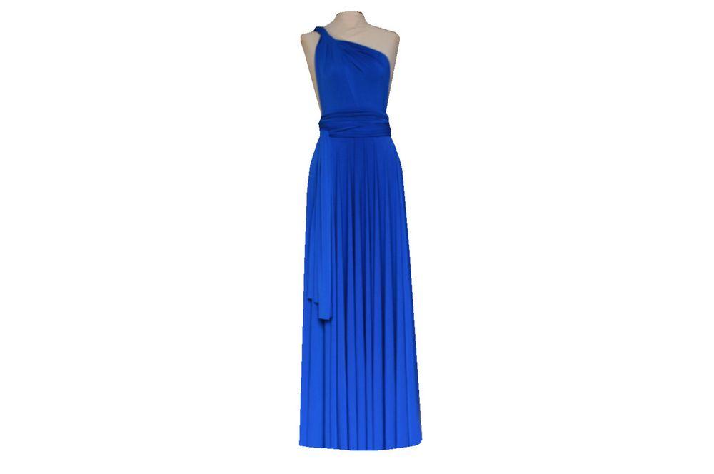 Blue Infinity Dress, Long Convertible Dress, Convertible Dresses for Bridesmaids, Wedding Party
