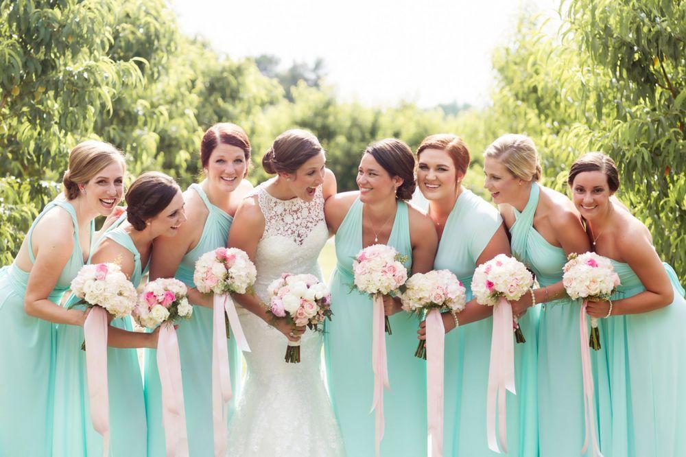Set of 12 Light Green Infinity Dress, Green Convertible Dress, Floor Length Infinity Dress, Party Dress