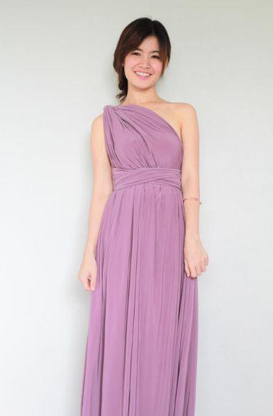 Pink Infinity Dress, Bridesmaid Convertible Dress, Bridesmaid Dress, Evening Dress