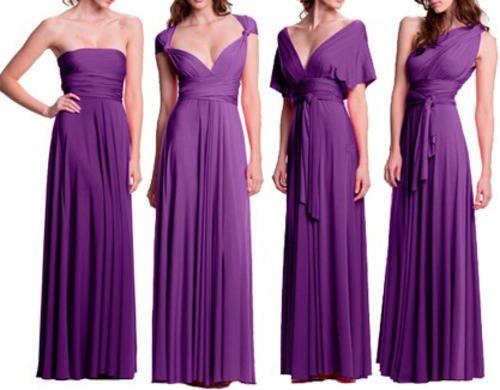 Set of 14 Purple Infinity Dress, Long Purple Infinity Dress, Party Dress, Evening Dress, Long Dress