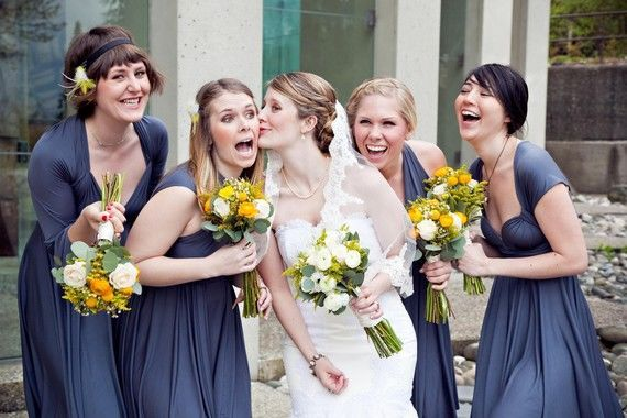Set of 4 Infinity Bridesmaid Dress, Dark Grey Convertible Dress, Convertible Maxi Dress Bridesmaid, Multi Wear Dress