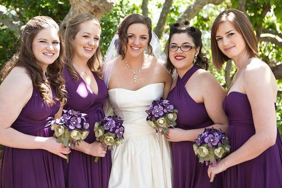Pack of 6 Convertible Infinity Dress, Purple Convertible Dress, Long Convertible Bridesmaid Dress, Infinity Dress