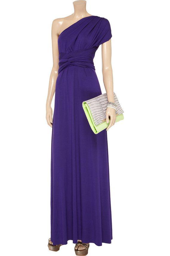 1 Convertible Bridesmaid Dress, Purple Infinity Dress, Champagne Convertible Dress, Convertible Bridesmaid Dress Long