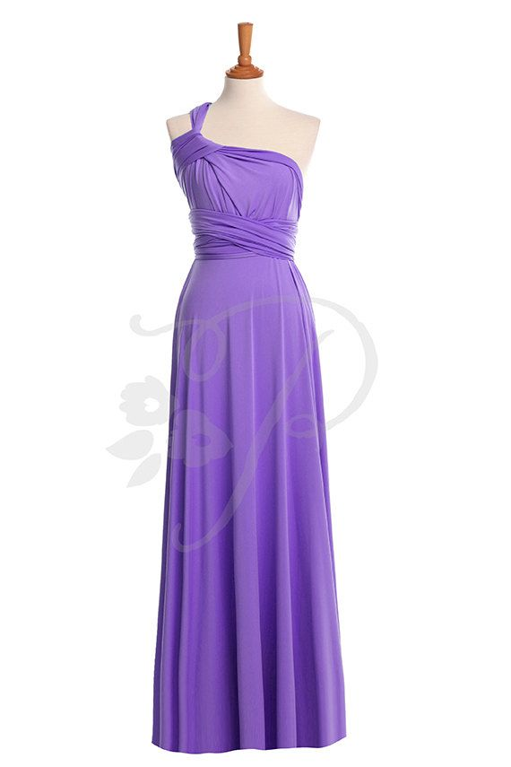 1 Convertable Bridesmaid Dress, Multiway Wrap Dress, Purple Infinity ...