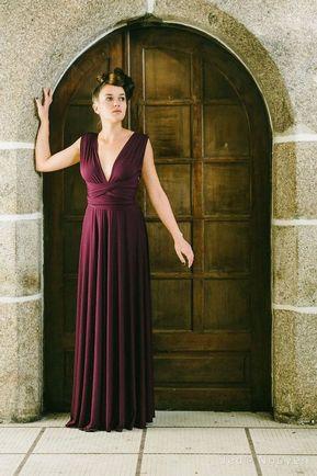 1 Red Convertible Bridesmaid Dress, Infinity Maxi Dress, Multi Wear Dress, Infinity Wedding Dress, Bridal Gift