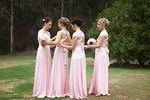 6 Infinity Dress Set, Pink Convertible Bridesmaid Dress, Convertible Infinity Bridesmaid Wrap Dress, Evening Dress