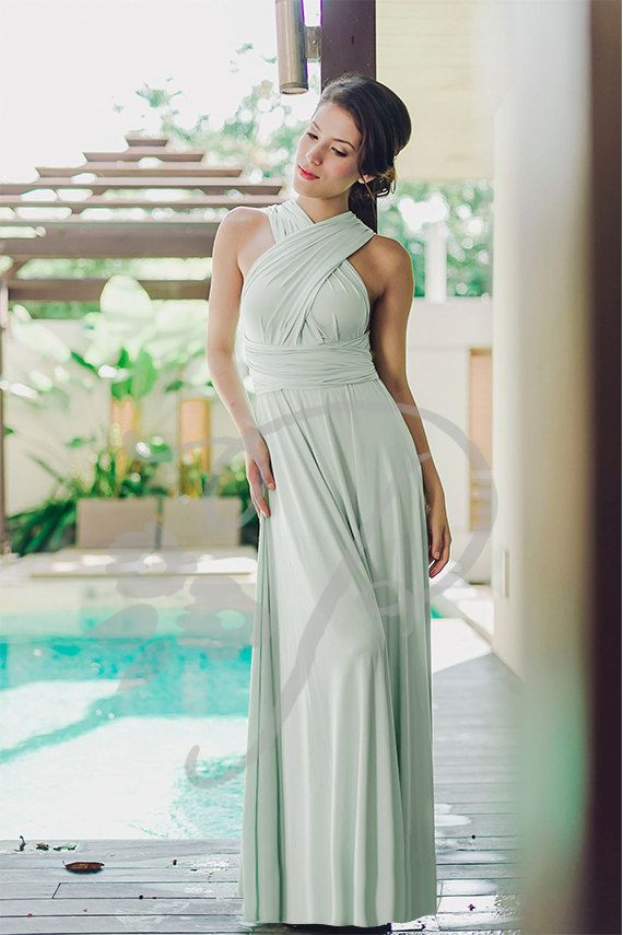1 Infinity Bridesmaid Dress, Mint Convertable Dress, Wrap Dress Dridesmaid, Multiway Wrap Dress, Bridesmaid Dress