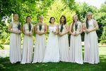 Set of 6 White Infinite Dress, Evening Gown Woman Dresses, Multiway Dress Bridesmaid, Infinity Dresses for Bridesmaids
