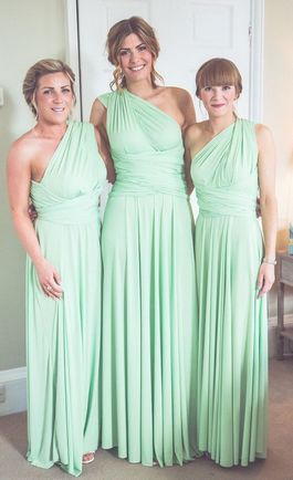 Set of 10 Mint Convertable Dress, Bridesmaid Multiway Dress, Infinity Wedding Dress, Convertible Dresses for Bridesmaids