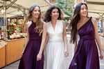 Pack of 4 White, Purple Convertible Bridesmaid Dress, Bridesmaid Dress, Dress for Party, Infinite Dressed as Girls