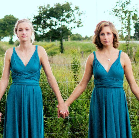 Pack of 3 Infinity Maxi Dress, Multiway Wrap Dress, Convertible Long Dress, Bridesmaid Dresses Convertible