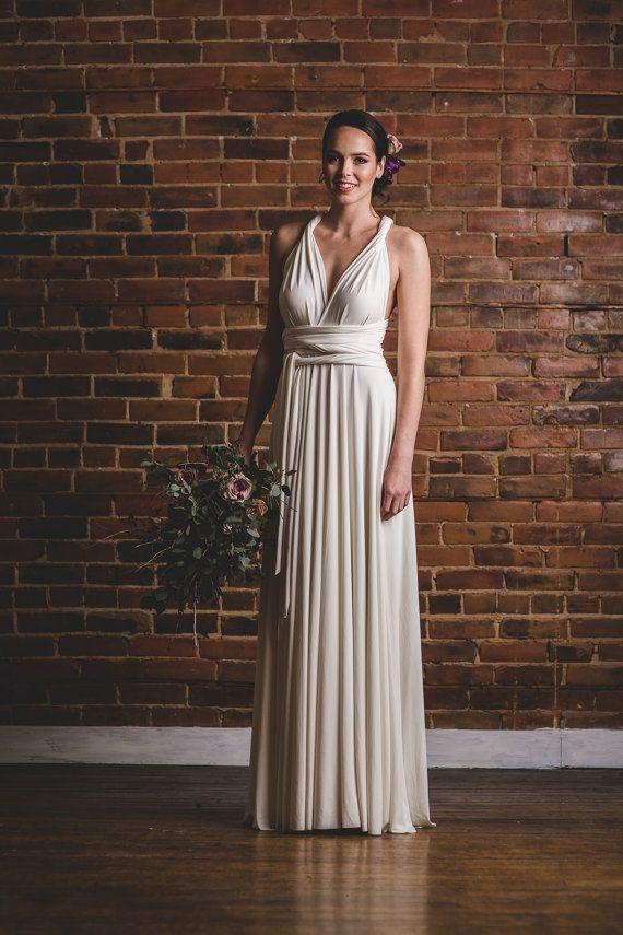 Infinity Wedding Dress, Floor Length White Bridesmaid Dress, Infinite Dressed as Girls, Maid of Honor Dress