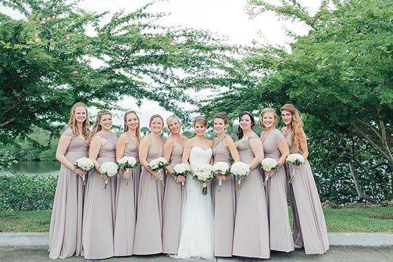 Pack of 17 Infinity Dresses, Silver Weddings Dress, Wedding Floor Length Dress, Party Dress, Evening Dress