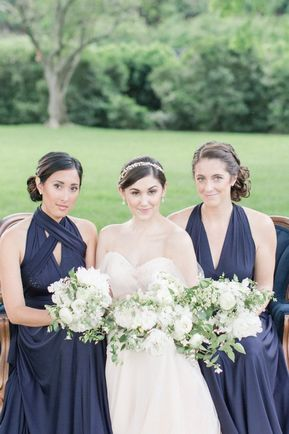 Set of 6 Dark Blue Bridesmaid Dress, Convertible Dresses for Bridesmaids, Evening Dress, Party Dress, Long Wrap Dress