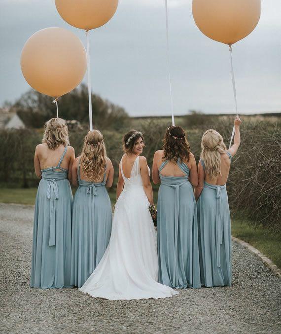 9 Pink Infinity Dress, Convertible Dresses for Bridesmaids, Beach Wedding Dress, Floor Length Infinity Dress