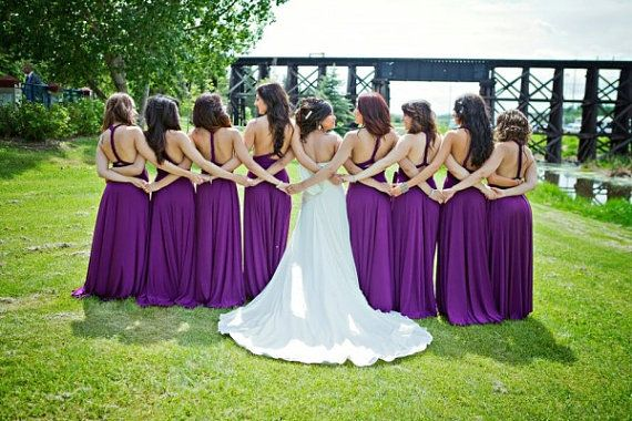Set of 18 Purple Infinity Dress, Convertible Dresses for Bridesmaids, Bridal Party, Party Dress, Bridal Gift