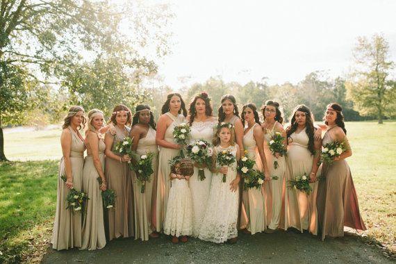 Pack of 17 Infinity Dresses, Beige Weddings Dress, Wedding Floor Length Dress, Party Dress, Evening Dress