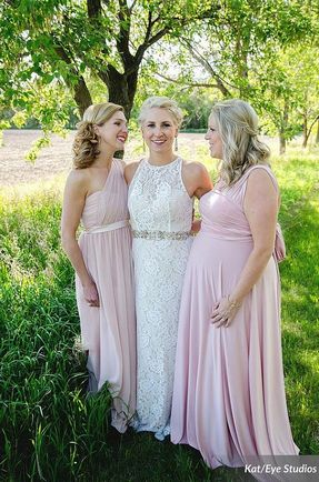 Pack of 2 Blush Convertible Dresses, Beach Wedding Dress, Infinity Dress Plus Size, Evening Gown Woman Dresses