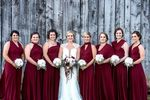 Set of 10 Bridesmaid Dress, Burgundy Convertable Wrap Dress, Infinity Wedding Dress, Bridal Gift, Bridesmaid Dress